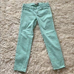 Paige Mint Colored Jeans